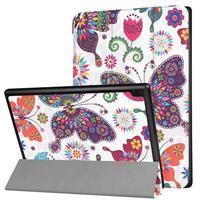 Pattern obrázkové polohovateľné puzdro pre tablet Lenovo Tab 4 10 Plus - farební motýle