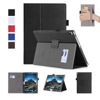 Texture PU kožené puzdro s držiakom na ruku na tablet Lenovo Tab 4 10 Plus - čierne