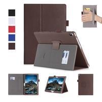 Texture PU kožené puzdro s držiakom na ruku na tablet Lenovo Tab 4 10 Plus - hnedé
