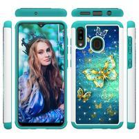 Patterned odolný obal na mobil Samsung Galaxy A20 / Galaxy A30 - motýľ