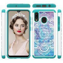 Patterned odolný obal na mobil Samsung Galaxy A20 / Galaxy A30 - farebné kvety