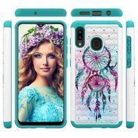 Patterned odolný obal na mobil Samsung Galaxy A20 / Galaxy A30 - lapač snov