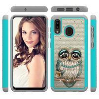 Patterned odolný obal na mobil Samsung Galaxy A20 / Galaxy A30 - sova