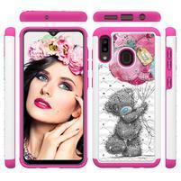 Patterned odolný obal na mobil Samsung Galaxy A20 / Galaxy A30 - medvedík
