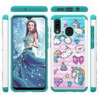 Patterned odolný obal na mobil Samsung Galaxy A20 / Galaxy A30 - jednorožec