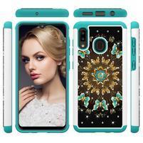 Patterned odolný obal na mobil Samsung Galaxy A20 / Galaxy A30 - kvety a motýle