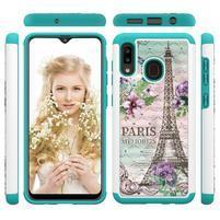 Patterned odolný obal na mobil Samsung Galaxy A20 / Galaxy A30 - Eiffelova veža