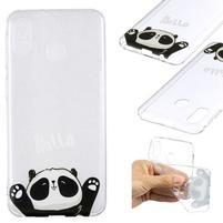 Pattern gélový obal na Samsung Galaxy M20 - rozkošná panda