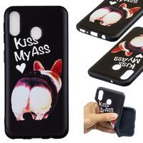 Pattern gélový obal na Samsung Galaxy M20 - kiss my ass