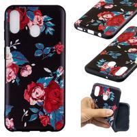 Pattern gélový obal na Samsung Galaxy M20 - živé kvety
