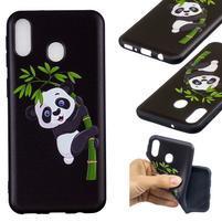 Pattern gélový obal na Samsung Galaxy M20 - panda
