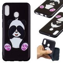 Pattern gélový obal na Samsung Galaxy M20 - roztomilá panda