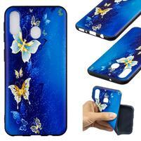 Pattern gélový obal na Samsung Galaxy M20 - motýľ