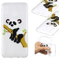Pattern gélový obal na Samsung Galaxy M20 - spiace panda