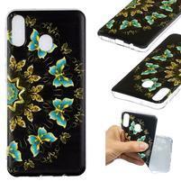 Pattern gélový obal na Samsung Galaxy M20 - farebný motýle