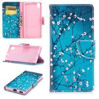 Pattern PU kožené peněženkové puzdro na mobil Sony Xperia XA1 Plus - sladká zima