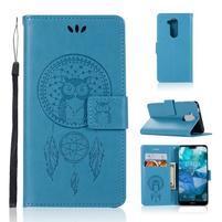 Dream PU kožené peněženkové puzdro na Nokia 8.1 - modré