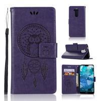 Dream PU kožené peněženkové puzdro na Nokia 8.1 - fialové