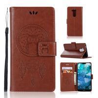 Dream PU kožené peněženkové puzdro na Nokia 8.1 - hnedé