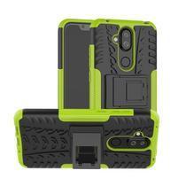 Kick odolný hybridný obal na Nokia 8.1 - zelený