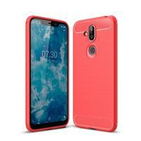 Fiber gélový odolný kryt na Nokia 8.1 - červený