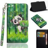 Decor PU kožené peněženkové puzdro pre Nokia 8.1 - panda