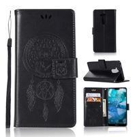 Dream PU kožené peněženkové puzdro na Nokia 8.1 - čierne