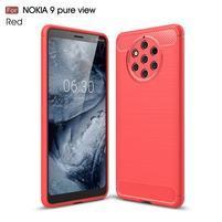 Fiber odolný gélový kryt na Nokia 9 PureView - červený