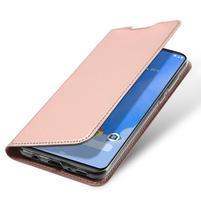 DUX luxusné PU kožené puzdro na Samsung Galaxy A70 - růžovozlaté