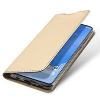 DUX luxusné PU kožené puzdro na Samsung Galaxy A70 - zlaté