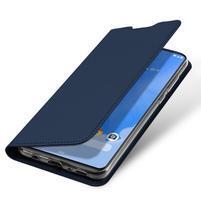 DUX luxusné PU kožené puzdro na Samsung Galaxy A70 - tmavomodrej