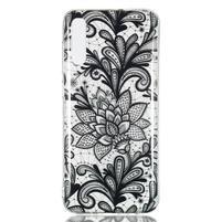 Patty gélový obal na Samsung Galaxy A70 - kvetina čipka