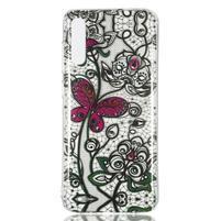 Patty gélový obal na Samsung Galaxy A70 - čipka a motýľ