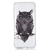 Patty gélový obal na Samsung Galaxy A70 - čierna sova