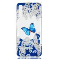 Patty gélový obal na Samsung Galaxy A70 - motýľ a biele kvety