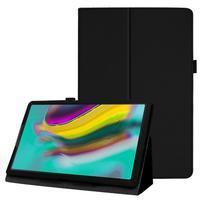 Litchi textúrovaný PU kožený obal na tablet Samsung Galaxy Tab A 10.1 (2019) SM-T515 - čierny