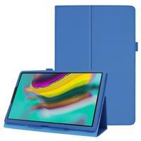 Litchi textúrovaný PU kožený obal na tablet Samsung Galaxy Tab A 10.1 (2019) SM-T515 - svetlomodrý