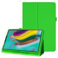 Litchi textúrovaný PU kožený obal na tablet Samsung Galaxy Tab A 10.1 (2019) SM-T515 - zelený