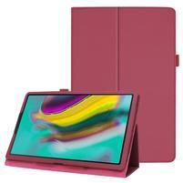 Litchi textúrovaný PU kožený obal na tablet Samsung Galaxy Tab A 10.1 (2019) SM-T515 - rose