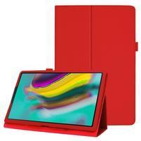 Litchi textúrovaný PU kožený obal na tablet Samsung Galaxy Tab A 10.1 (2019) SM-T515 - červený