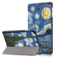 Print PU kožené puzdro pre tablet Samsung Galaxy Tab 10.1 (2019) T515 / T510 - hviezdna obloha