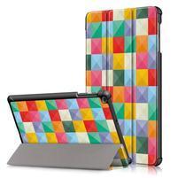 Print PU kožené puzdro pre tablet Samsung Galaxy Tab 10.1 (2019) T515 / T510 - farebné kocky