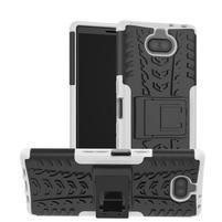 Kick odolný hybridný obal na Sony Xperia 10 Plus - biely