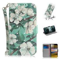 Decor PU kožené peněženkové puzdro na Sony Xperia 10 Plus - krásne kvety