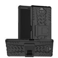 Kick odolný hybridný obal na Sony Xperia 10 Plus - čierny