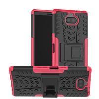 Kick odolný hybridný obal na Sony Xperia 10 Plus - rose