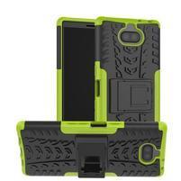 Kick odolný hybridný obal na Sony Xperia 10 Plus - zelený