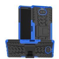 Kick odolný hybridný obal na Sony Xperia 10 Plus - modrý