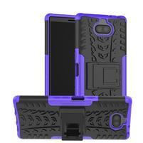 Kick odolný hybridný obal na Sony Xperia 10 Plus - fialový