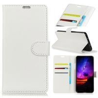 Litchi PU kožené peněženkové puzdro na Sony Xperia L3 - biele